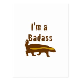 I'm a Badass Honey Badger Postcard
