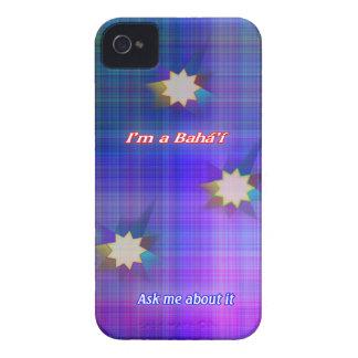 I'm a Bahá'í star plaid blackberry bold case