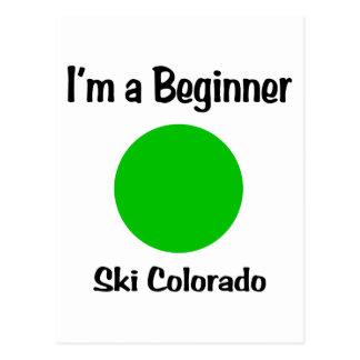 I'm a beginner Ski Colorado Postcard