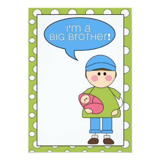 i'm a big brother (baby girl) announcement