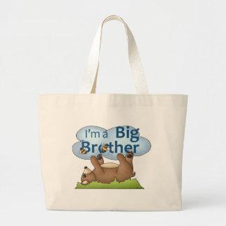 I'm a Big Brother bear Large Tote Bag