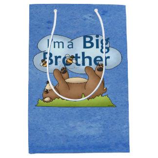 I'm a Big Brother bear Medium Gift Bag