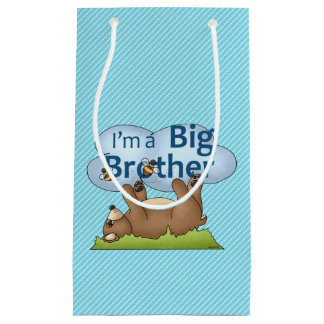 I'm a Big Brother bear Small Gift Bag