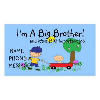I'm A Big Brother Calling Card