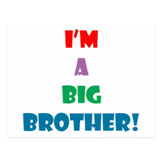 I'm a big brother text postcard