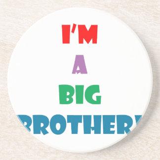 I'm a big brother text sandstone coaster