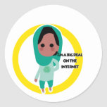I'm a Big Deal on the Internet - Green Spectrum Classic Round Sticker