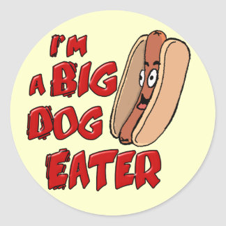 I'm a Big Dog Eater Sticker