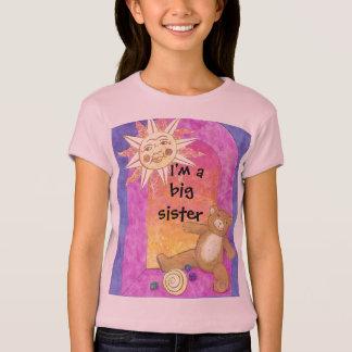 I'm a big sister now Teddy Bear Girls Baby Doll T-Shirt