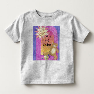 I'm a big sister now Teddy Bear toddler clothes Toddler T-shirt