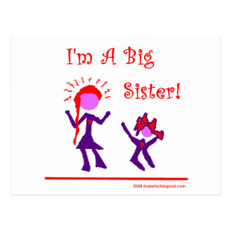 I'm A Big Sister! Postcard