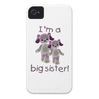 I'm a big sister (purple puppies) Case-Mate iPhone 4 case