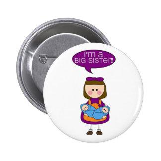 i'm a big sister (twin boys) button