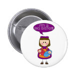 i'm a big sister (twin brother and sister) button 2 inch round button