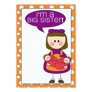 i'm a big sister (twin sisters) announcement