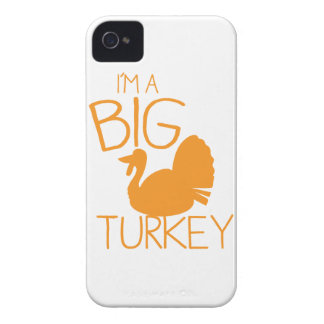 I'm a Big Turkey with turkey bird Case-Mate iPhone 4 Case