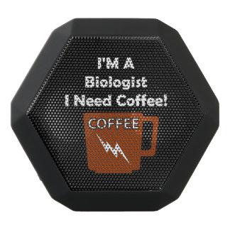 I'M A Biologist, I Need Coffee! Black Bluetooth Speaker