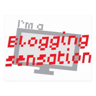 I'm a blogging SENSATION with digital computer scr Postcard