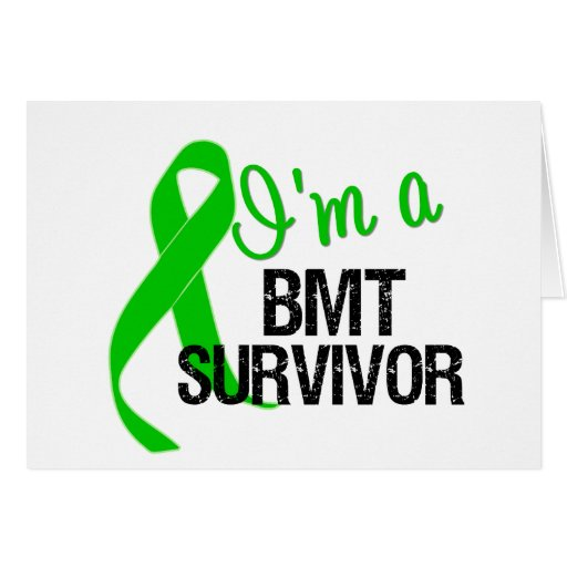 Im a BMT Survivor Ribbon Greeting Card