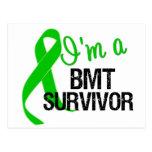 Im a BMT Survivor Ribbon Postcard