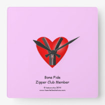 I'm a bona fide member of the Zipper Club Square Wall Clock