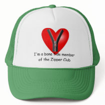 I'm a bona fide member of the Zipper Club Trucker Hat