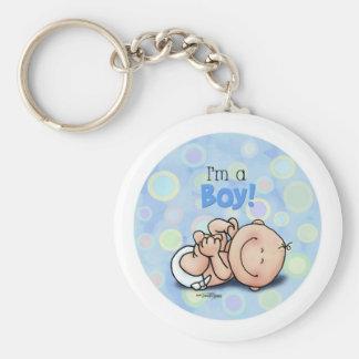 I'm a Boy - new baby Keychain