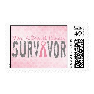 I'm A Breast Cancer Survivor - Awareness Postage Stamps