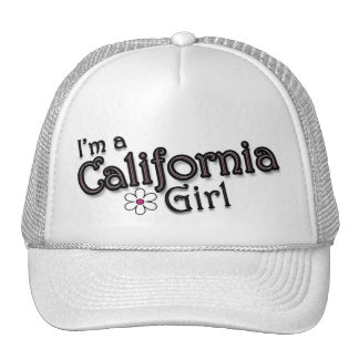 I'm a California Girl, Flower, Ladies Baseball Cap Hat