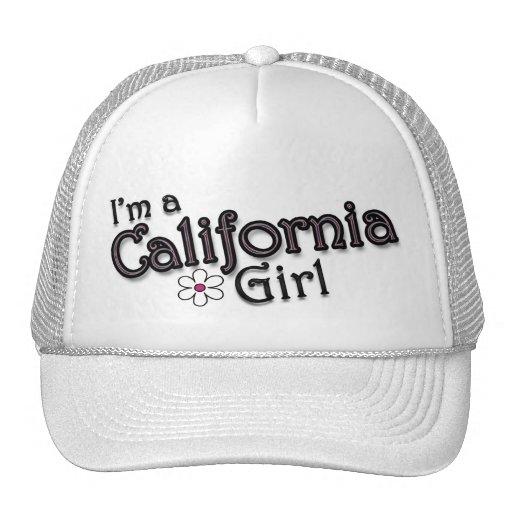 I'm a California Girl, Flower, Ladies Baseball Cap Trucker Hat