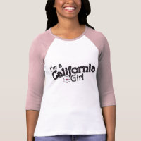 I'm a California Girl, Flower, Pink T-Shirt