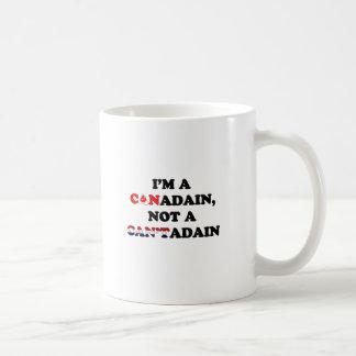 I'M A CANADIAN NOT A CANTADAIN FLAGS COFFEE MUG