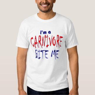 I'm a Carnivore Bite Me humor T-shirt