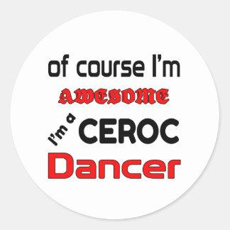 I'm a Ceroc Dancer Classic Round Sticker