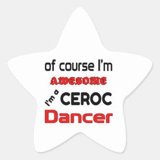 I'm a Ceroc Dancer Star Sticker