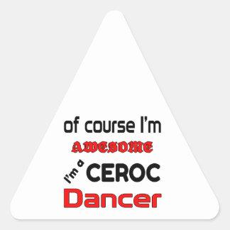 I'm a Ceroc Dancer Triangle Sticker