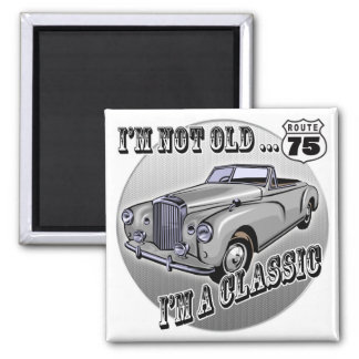 I'm A Classic 75th Birthday Gifts 2 Inch Square Magnet