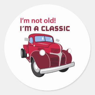 Im A Classic Classic Round Sticker
