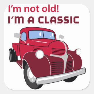 Im A Classic Square Sticker