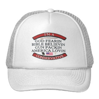 I'M A CONSERVATIVE TRUCKER HAT