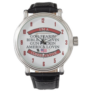 I'M A CONSERVATIVE WRISTWATCHES
