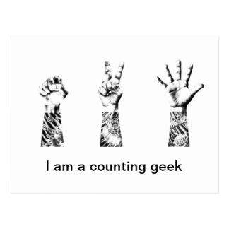 I'm a counting geek postcard