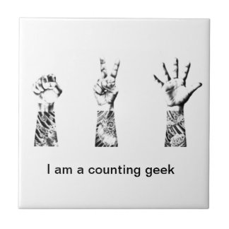 I'm a counting geek small square tile