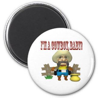 Im A Cowboy Baby Fridge Magnet