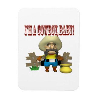 Im A Cowboy Baby Vinyl Magnets