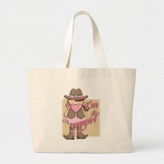 I'm A Cowgirl Little Dude Western Jumbo Tote Bag