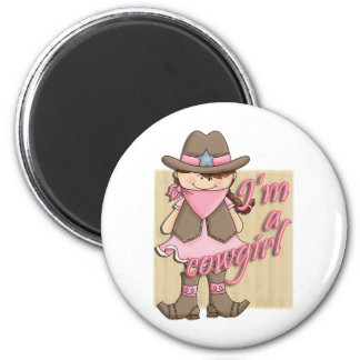 I'm A Cowgirl Little Dude Western Magnets