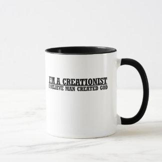 Im a creationist funny atheist humor mug