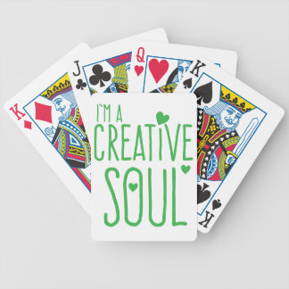 I'm a Creative Soul Bicycle Playing Cards