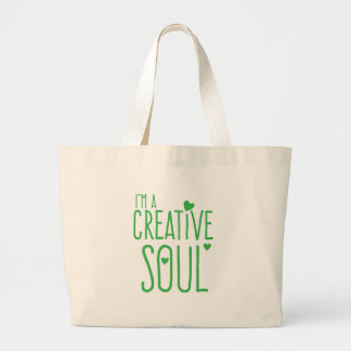 I'm a Creative Soul Large Tote Bag